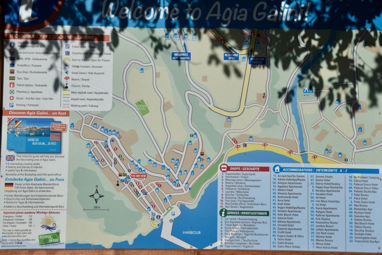 Karte von Agia Galini