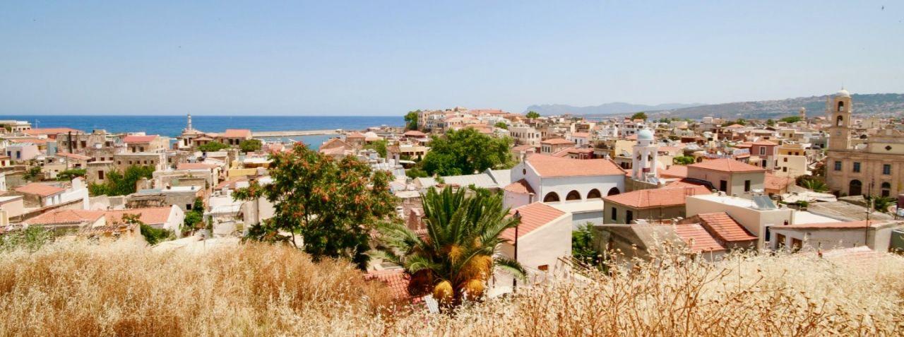 Blick vom Schivao Hügel in Chania