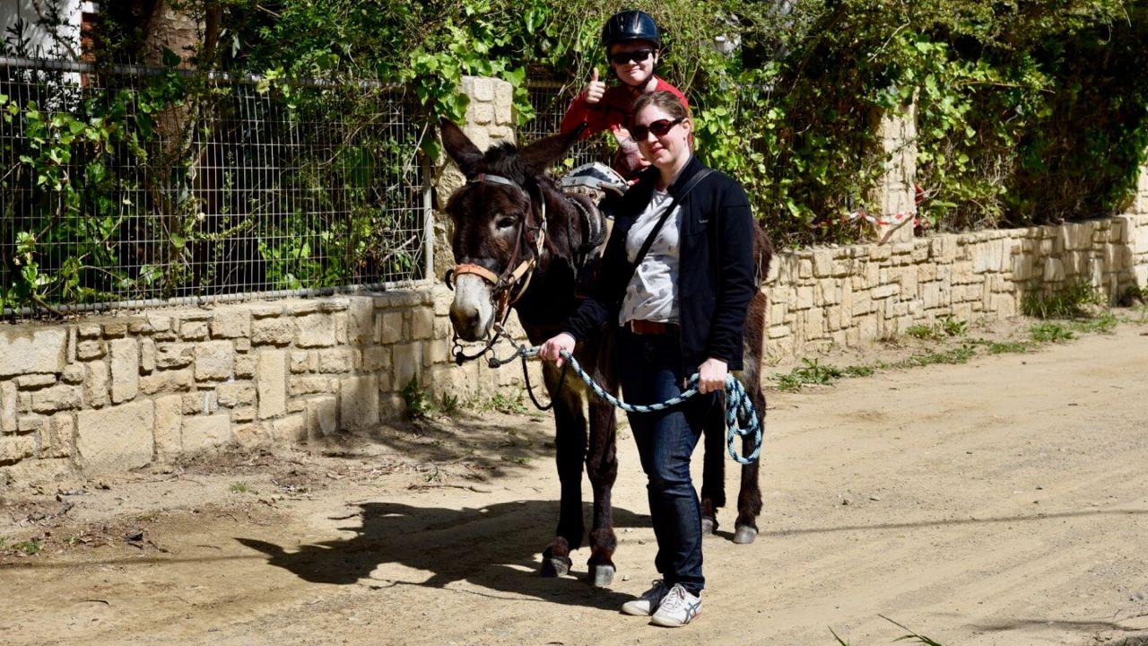 Esel reiten in Plakias