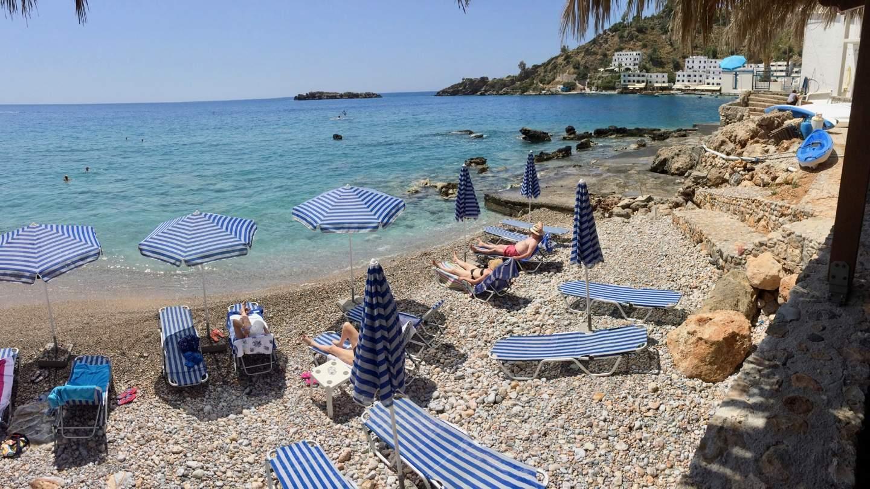 Strand am Ende von Loutro