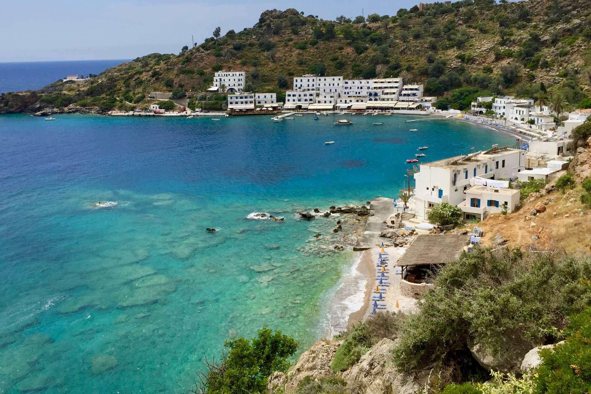 Loutro an Kretas Südküste von Osten aufgenommen