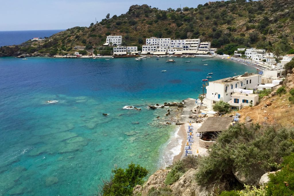 Loutro auf Kreta vom Wanderweg fotografiert