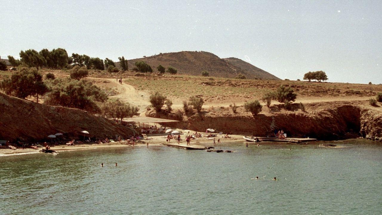 Westliche Strand in Panormo - Aufnahme aus 1995