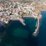 Luftaufnahme von Panormos auf Kreta