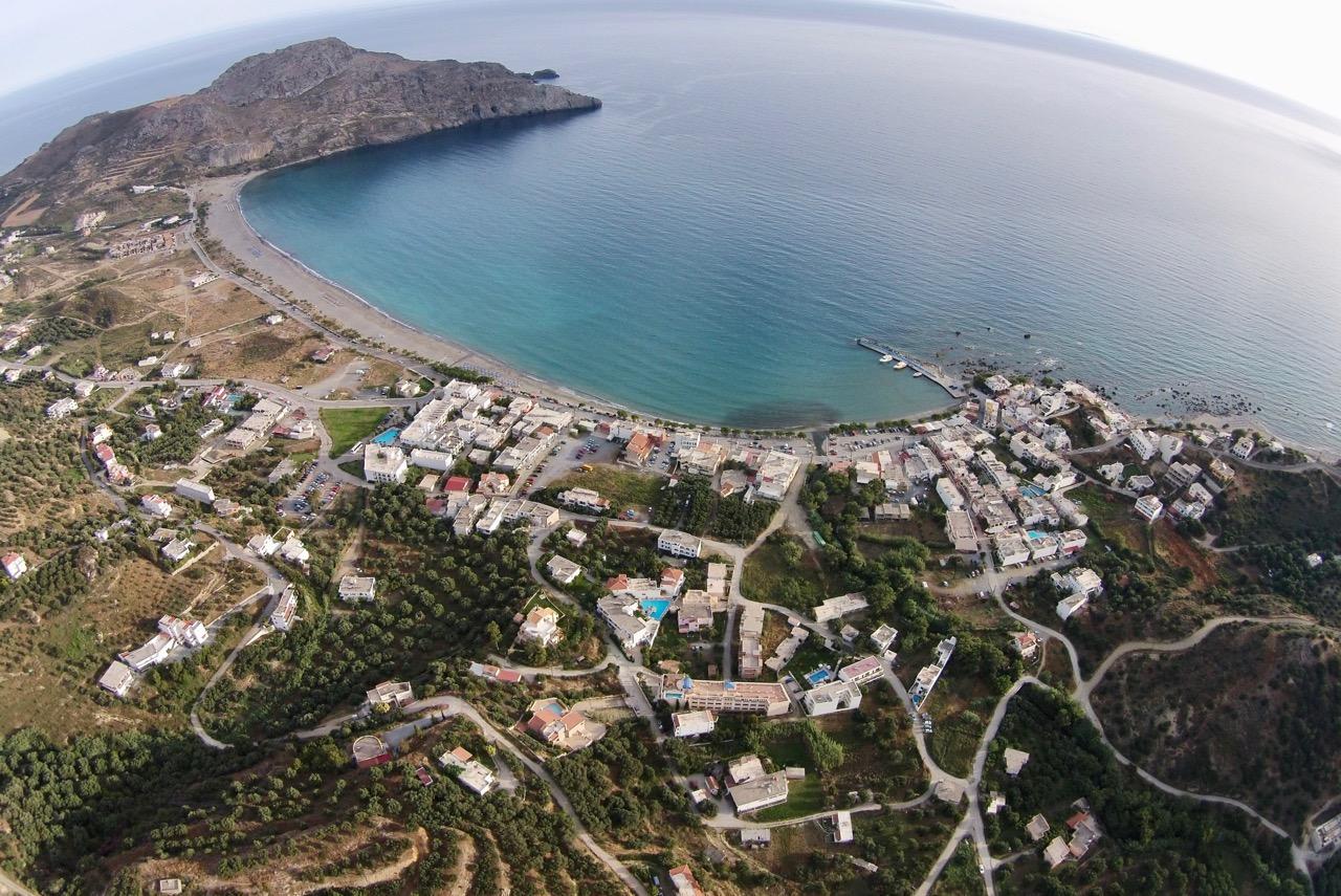 Luftaufnahme von Plakias
