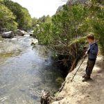 Am Fluss im Palmenhain von Preveli können Kinder viel entdecken