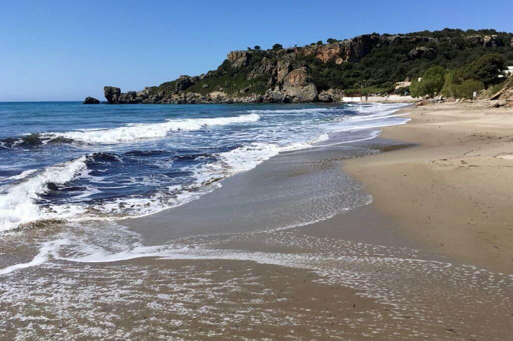 Polyrizos Strand auf Kreta