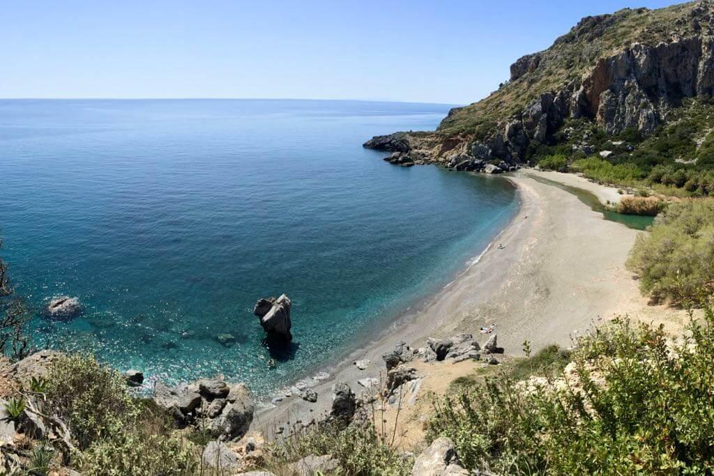 Kreta Strände - Preveli Palmenstrand