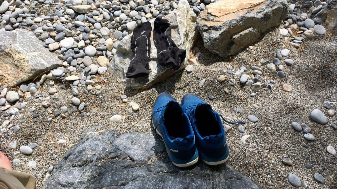 Schuhe und Socken trocknen