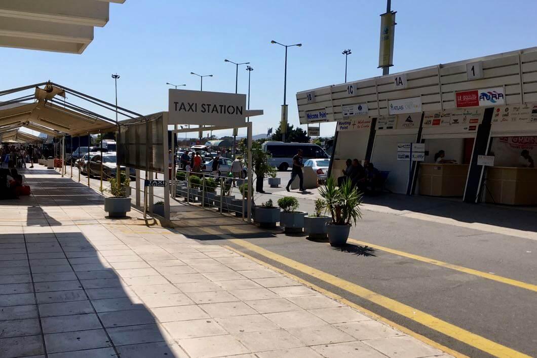 Taxi Kreta - Halte am Flughafen Heraklion auf Kreta