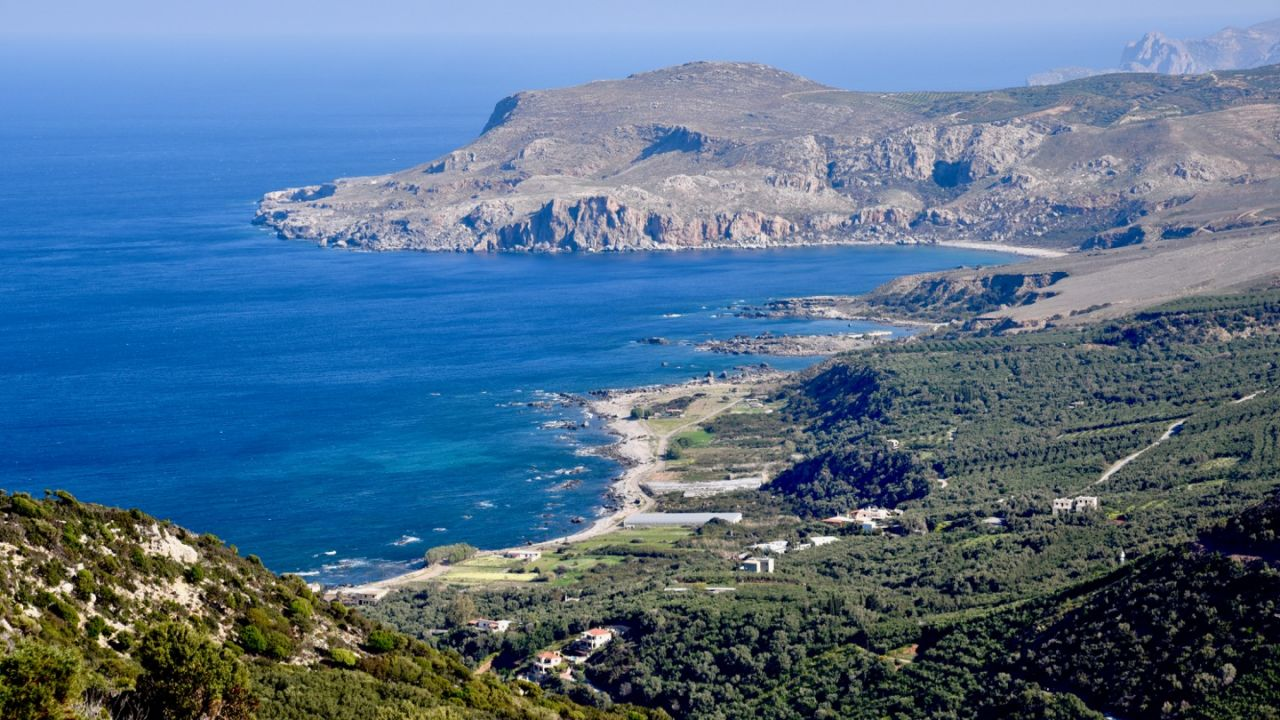 Blick auf die Westküste Kretas